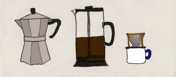 methods for making coffee outdoors illustration